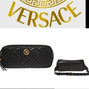 NEW! Versace quilted leather Medusa